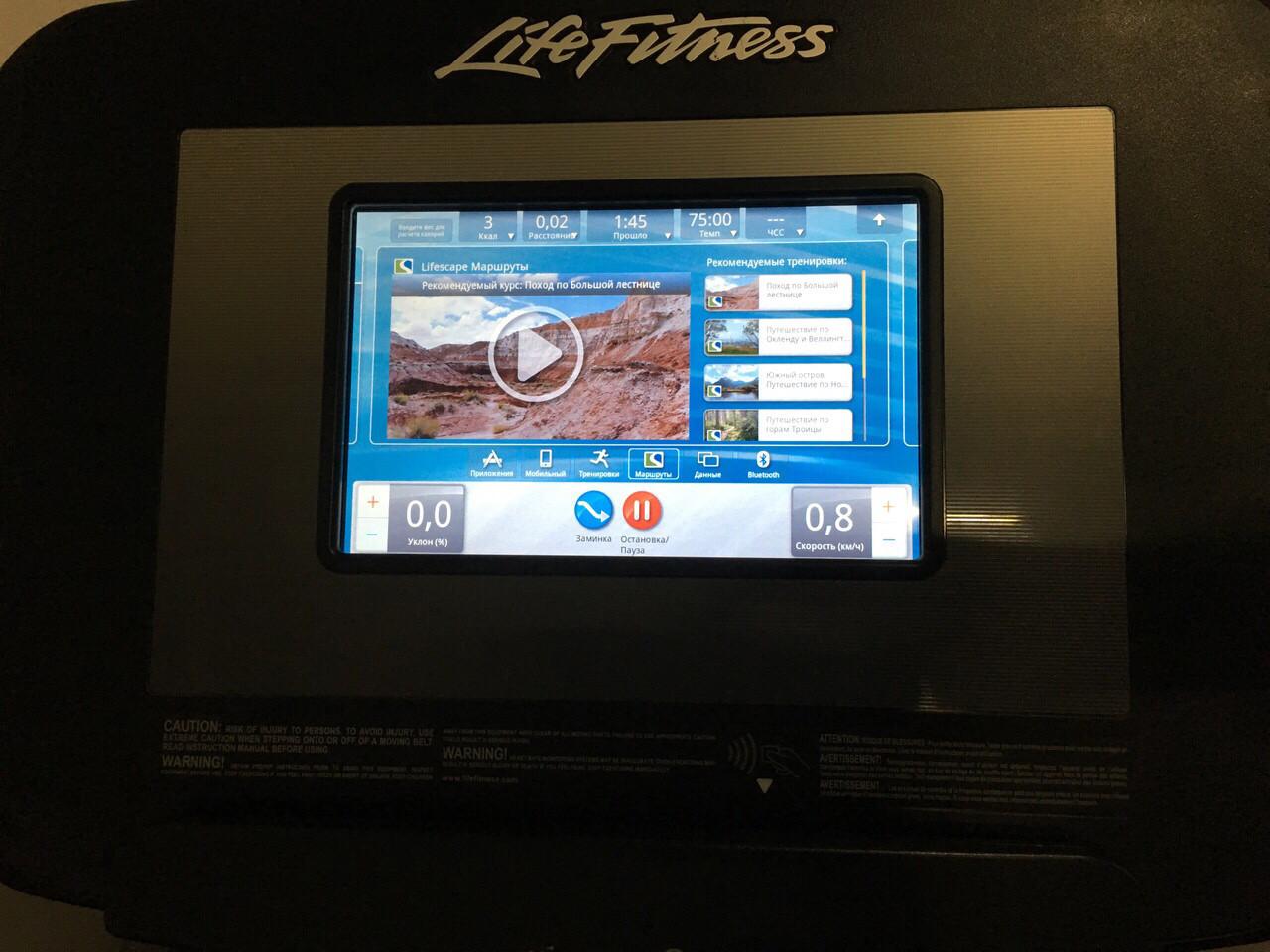 Профессиональная беговая дорожка Life Fitness Discover SI Elevation