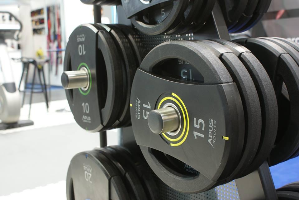 Диски (Блины) полиуретановые для штанги Apus Sport