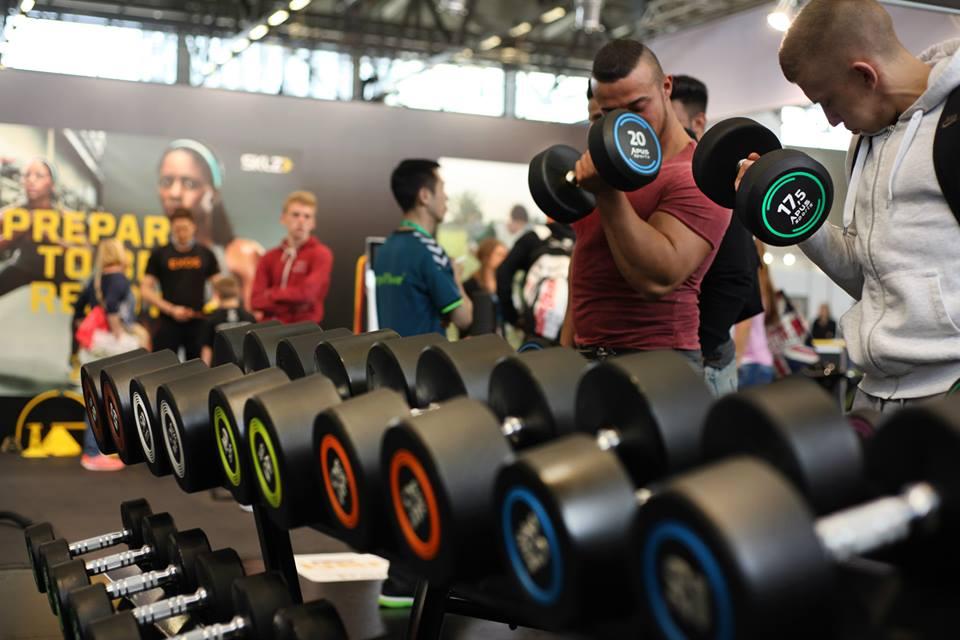 Набор гантелей 2кг-50кг полиуретановые с интервалом 2,5кг Apus Sports