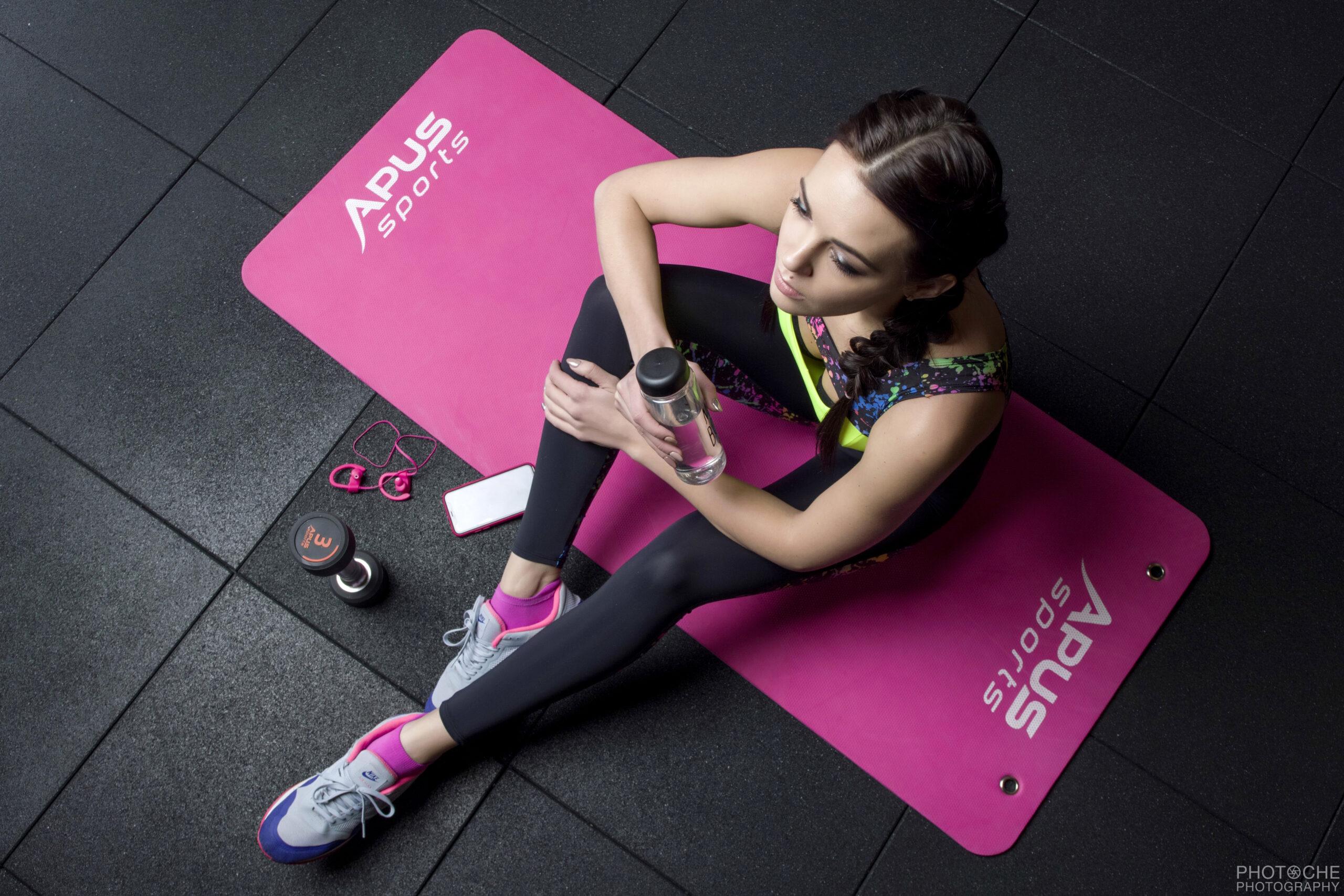 Профессиональный фитнес коврик. Для фитнеса, йоги, гимнастики.