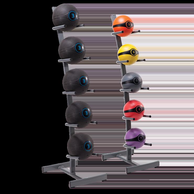 Устойчивая подставка (стойка) для медболов и медицинских мячей